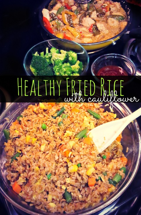 Healthy cauliflower fried brown rice simply taralynn healthy cauliflower fried brown rice forumfinder Images