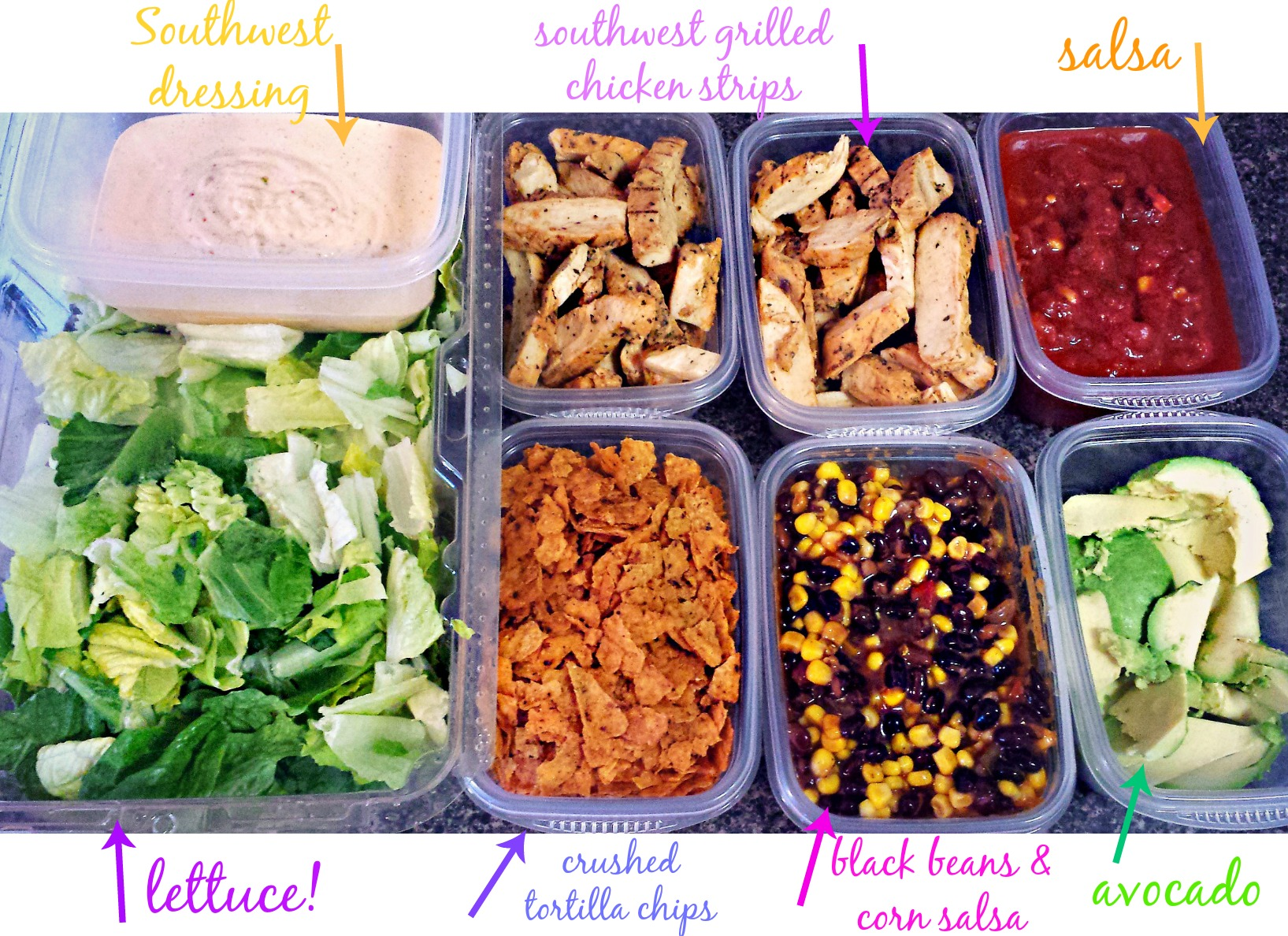 Lunch Food Prep: Southwest Salad – Simply Taralynn