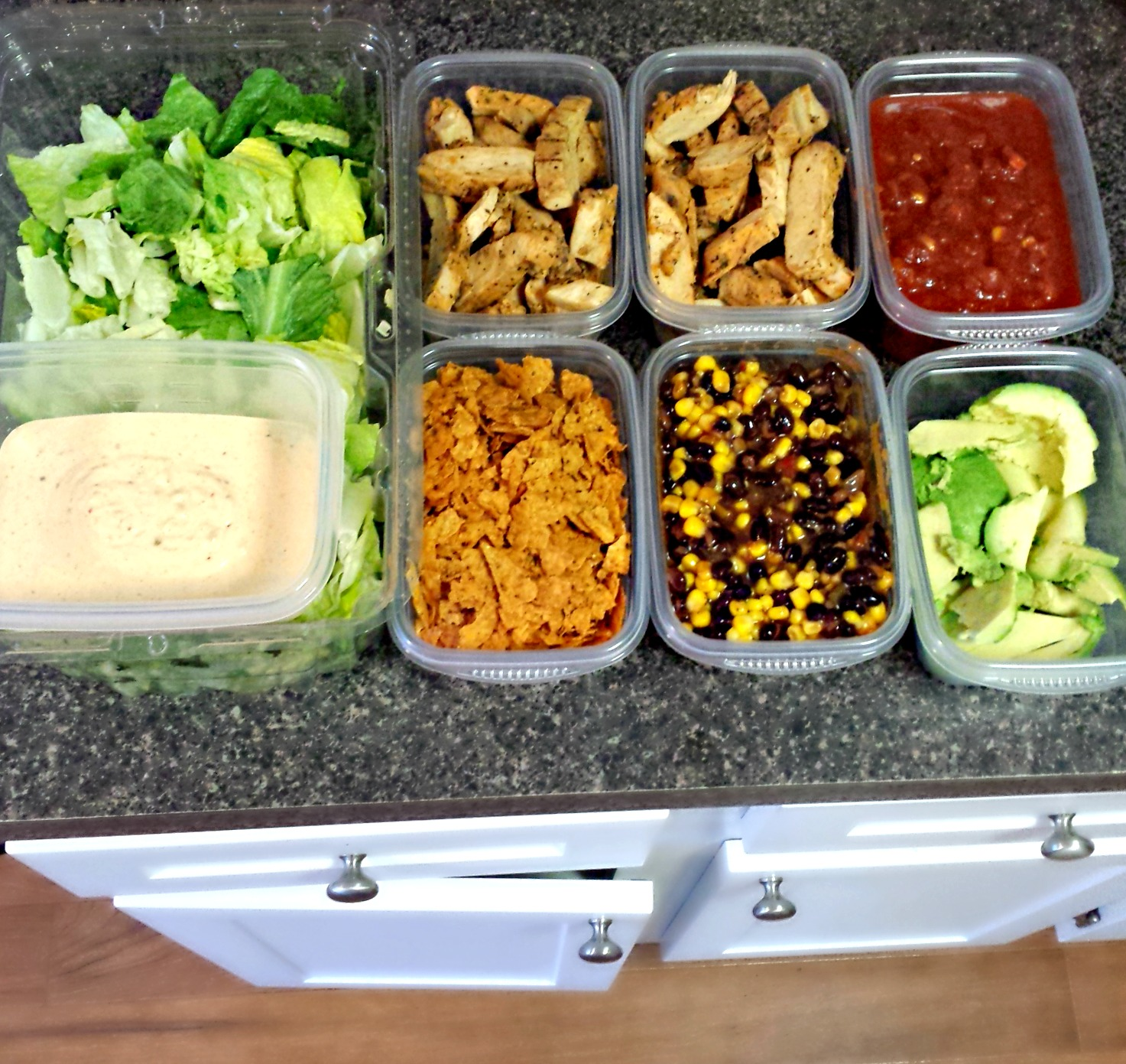 Lunch food prep southwest salad simply taralynn for Salas lunchs