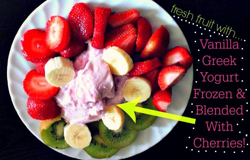Fresh Fruit With Frozen Yogurt Simply Taralynn
