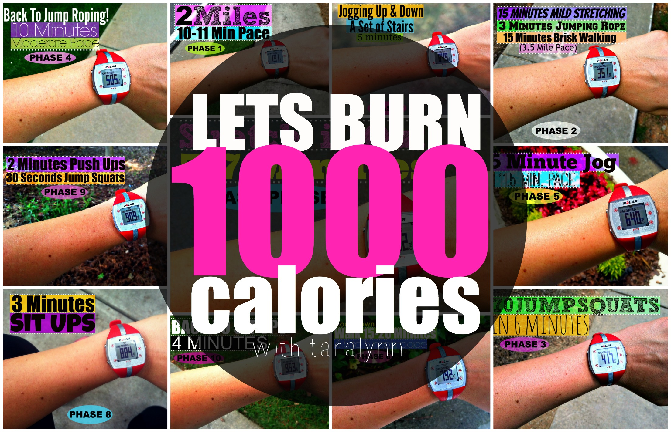 how to burn 1000 calories from a run