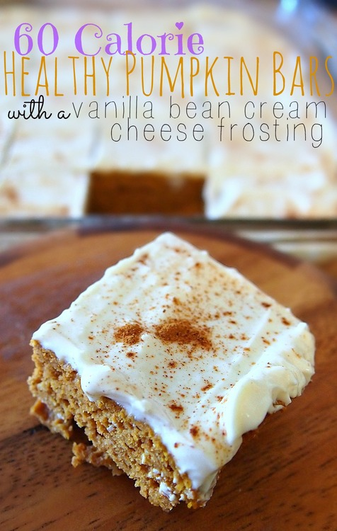 Healthy 60 Calorie Pumpkin Bars