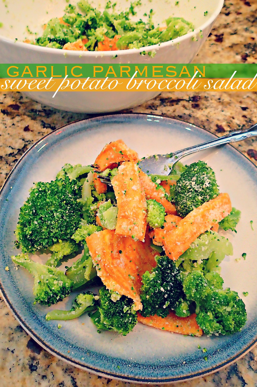 Garlic Parmesan Sweet Potato BroccoliSimply Taralynn