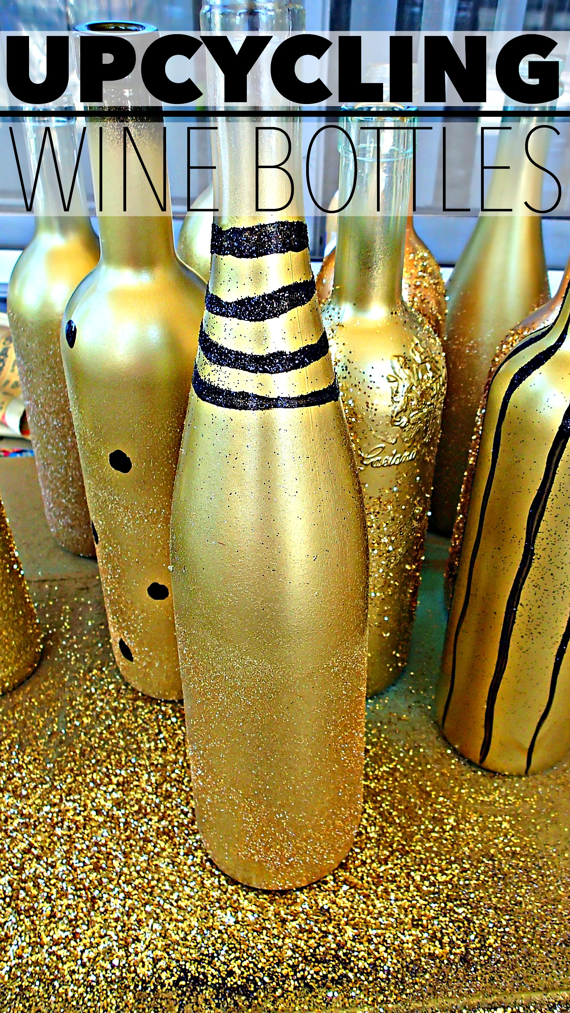 Diy upcycling wine bottles for decor simply taralynn for Diy projects with wine bottles