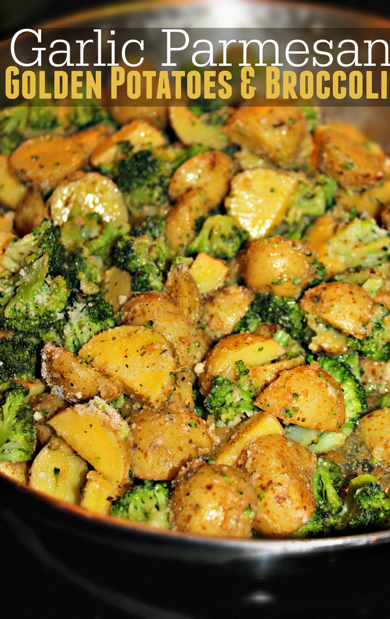 Garlic Parmesan Golden Potatoes  BroccoliSimply Taralynn