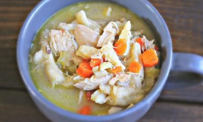 Best Chicken & Noodle recipe ever! With homemade egg noodles! #crockpot #eggnoodles #soup