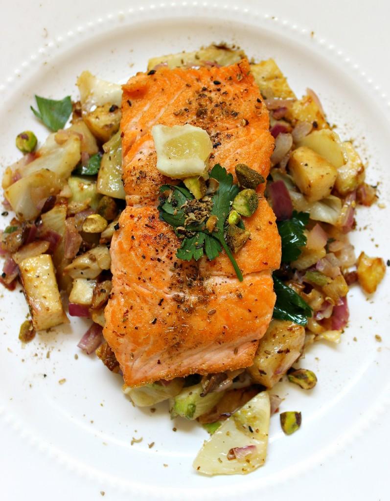 Blue apron salmon - Img_8081 Img_8085