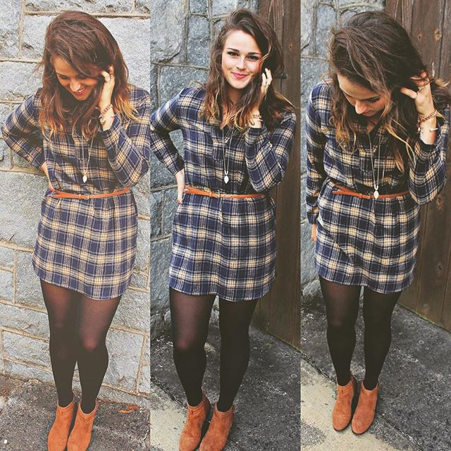 flannel fall dresses