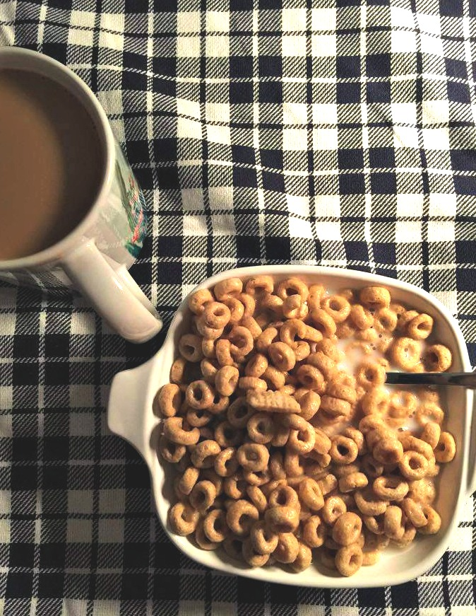 COFFEE AND CHEERIOS