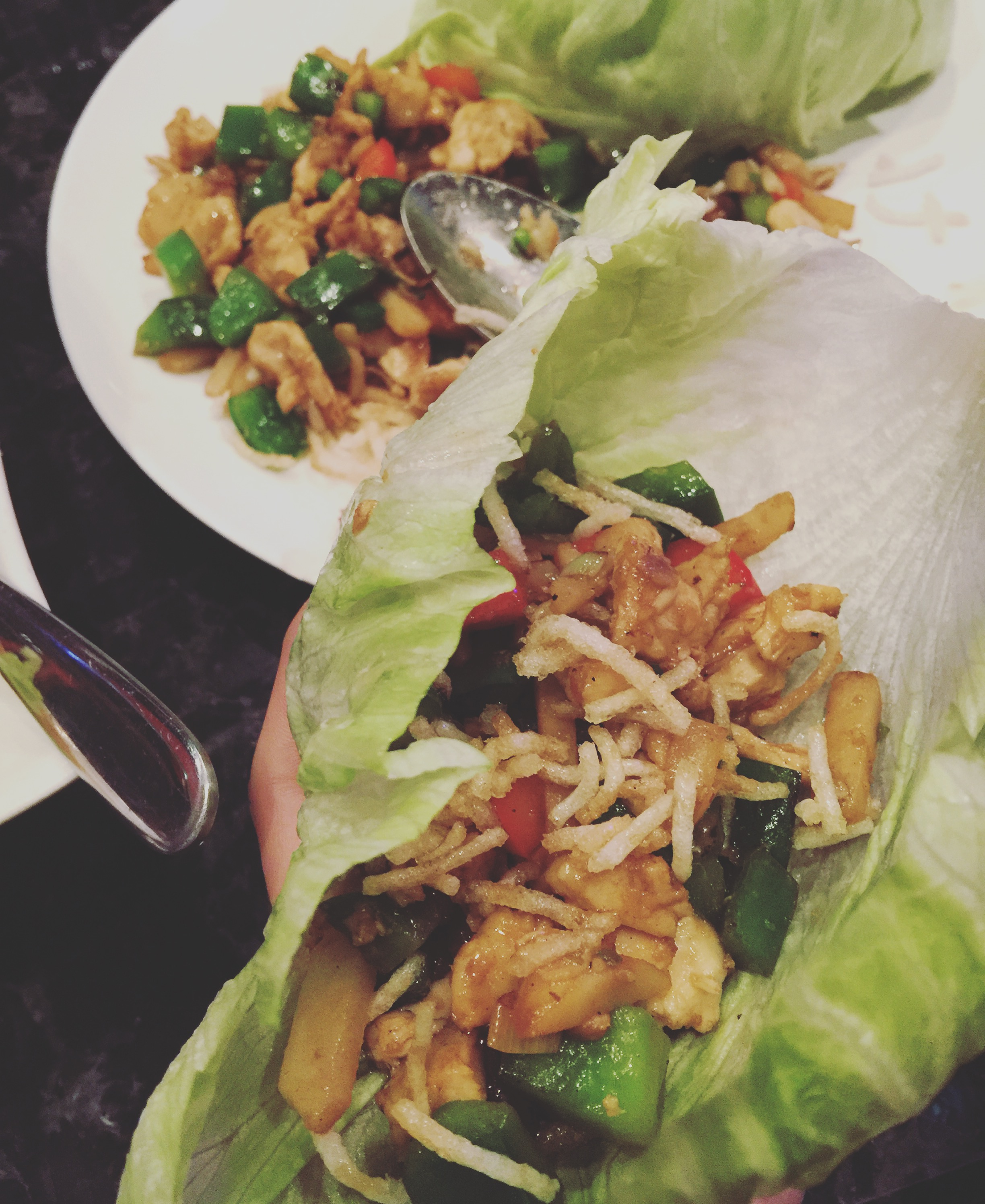 chicken lettuce wraps Hakana Sushi Bar in Baxter Village