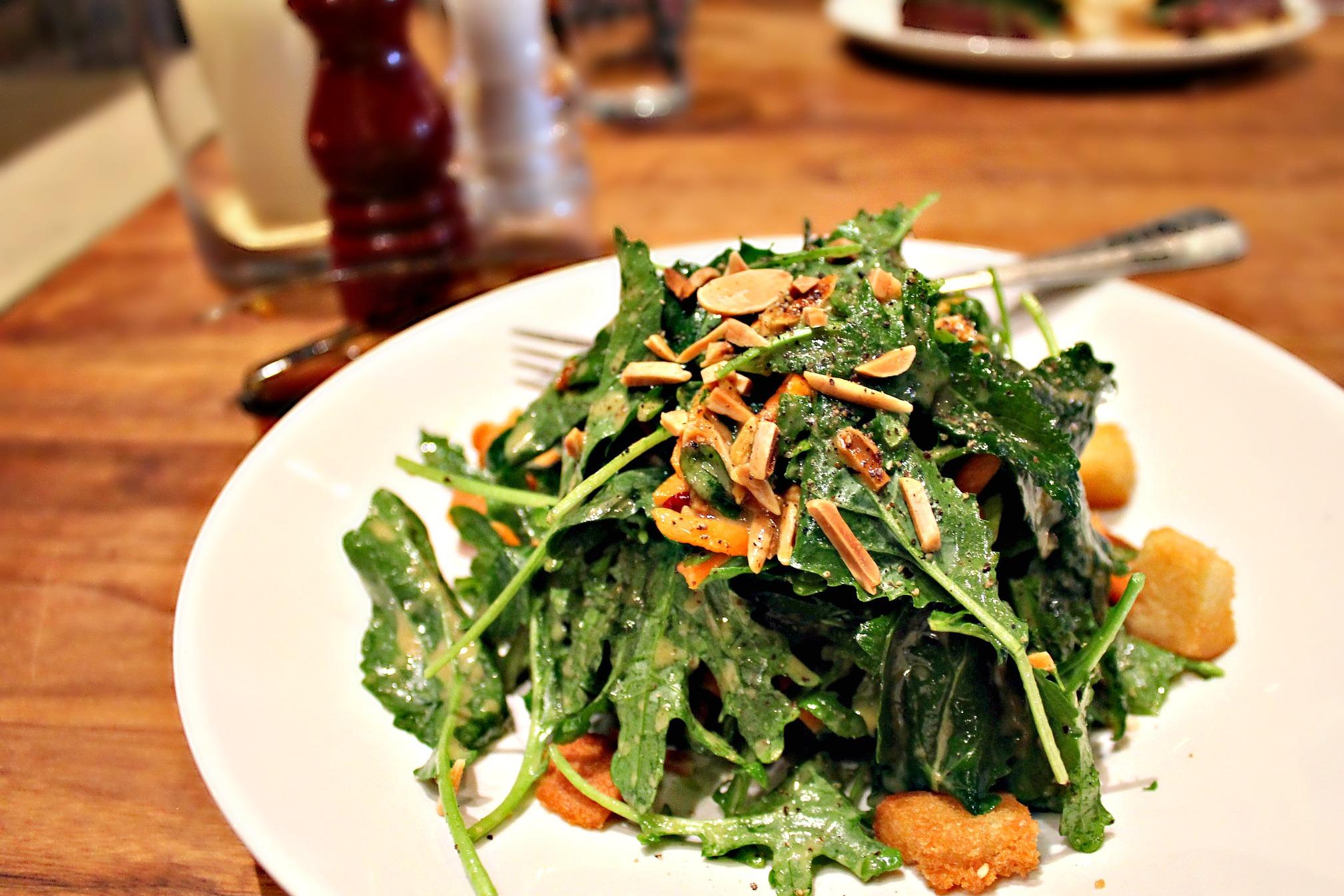 kale salad at stoney river