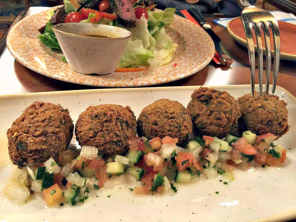 Disney World Magic Kingdom Skipper Canteen Falafel