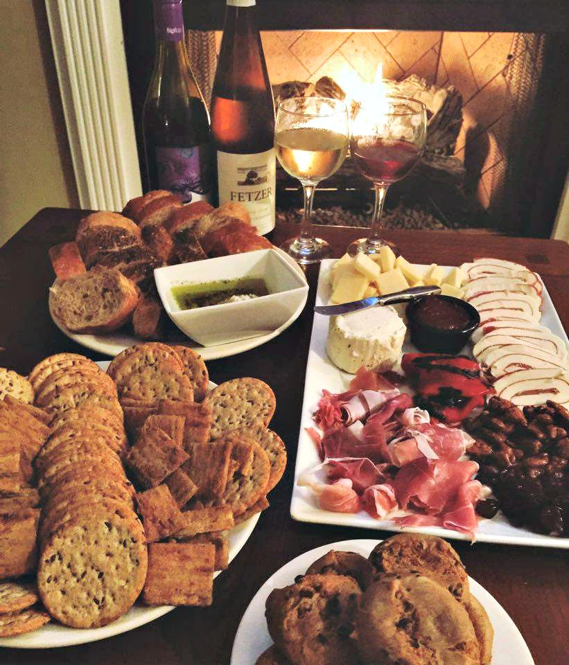 Cheese, Meats, & Cracker Spread