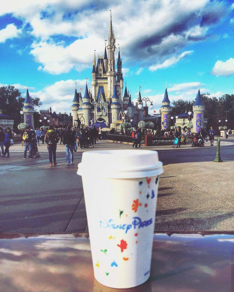 Disney World Magic Kingdom Cinderella's Castle Coffee Starbucks