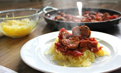 Homemade Tomato Sauce W/Tuttorosso Tomatoes & Homemade Turkey Meatballs!