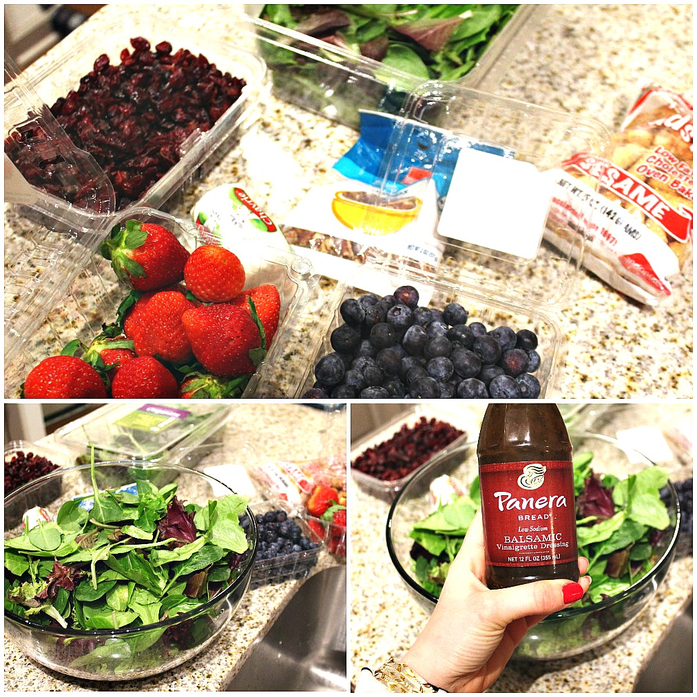 Fuit & Goat Cheese Salad: Berries, Balsamic, Pecans, & Goat Cheese!