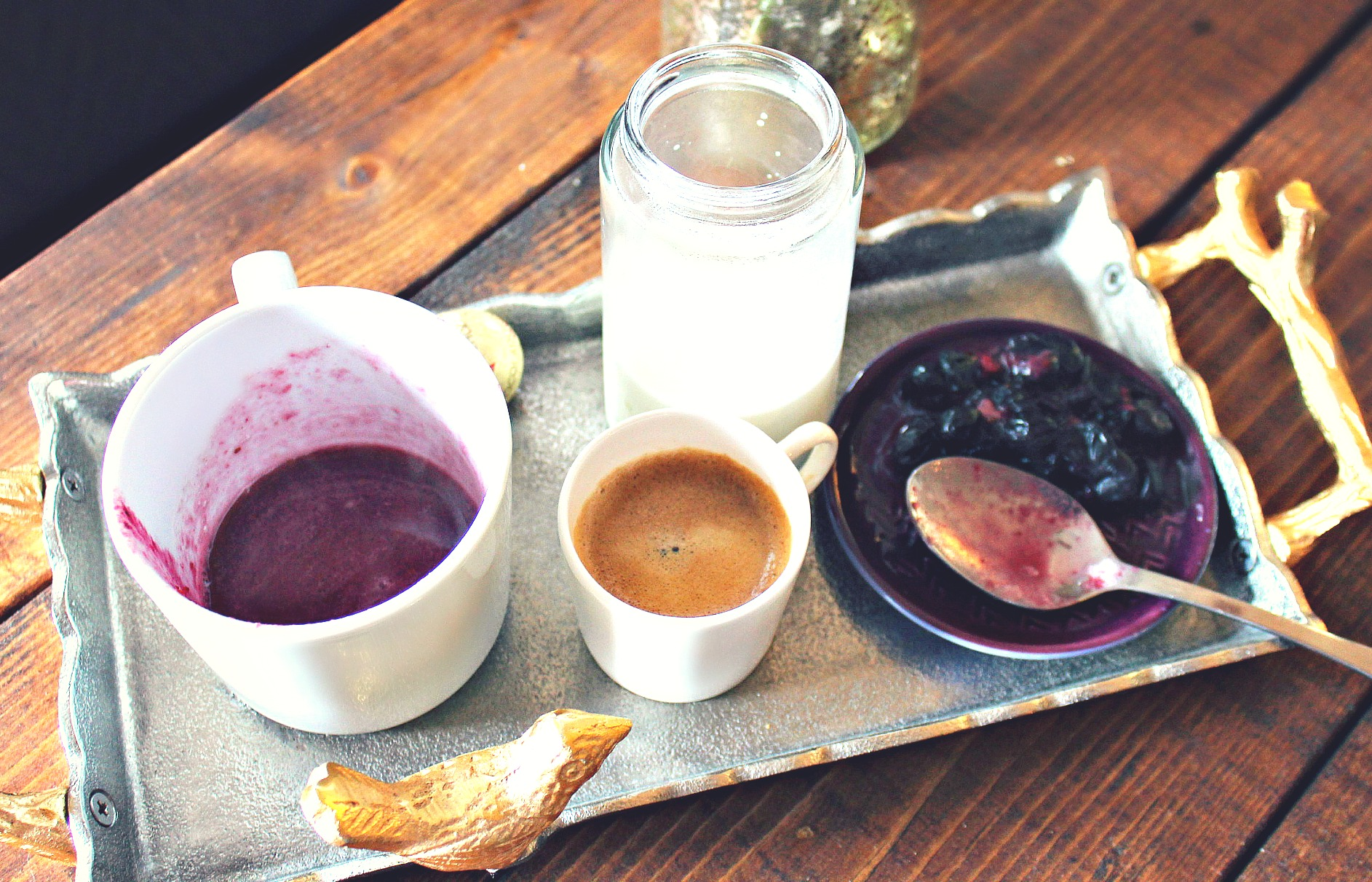 Vegan Blueberry Almond Milk Latte