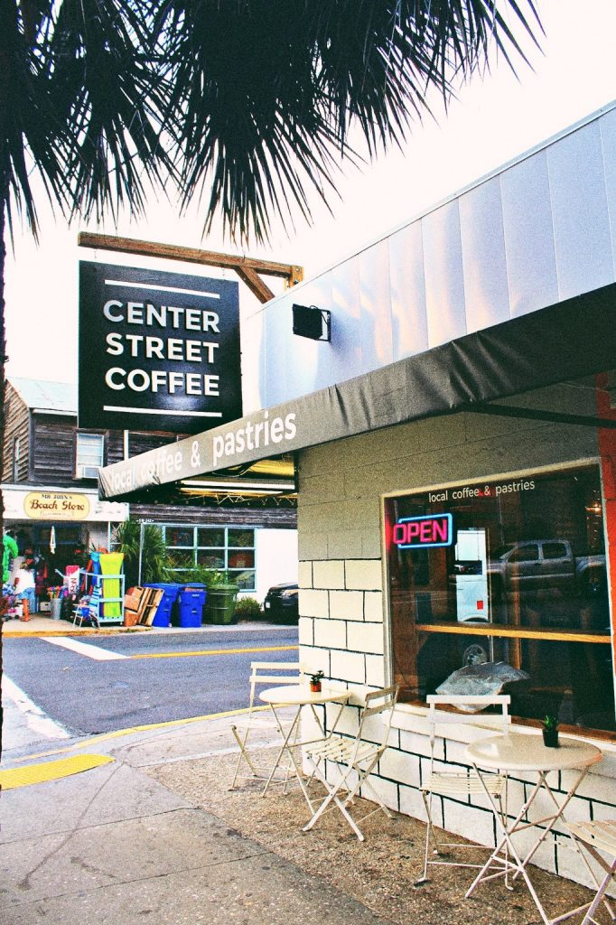 Center Street Coffee Shop: Folly Beach South Carolina
