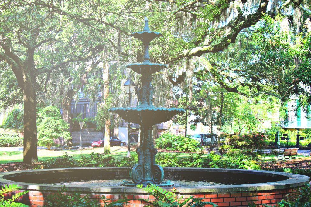 Fountain in the Lafayette square.