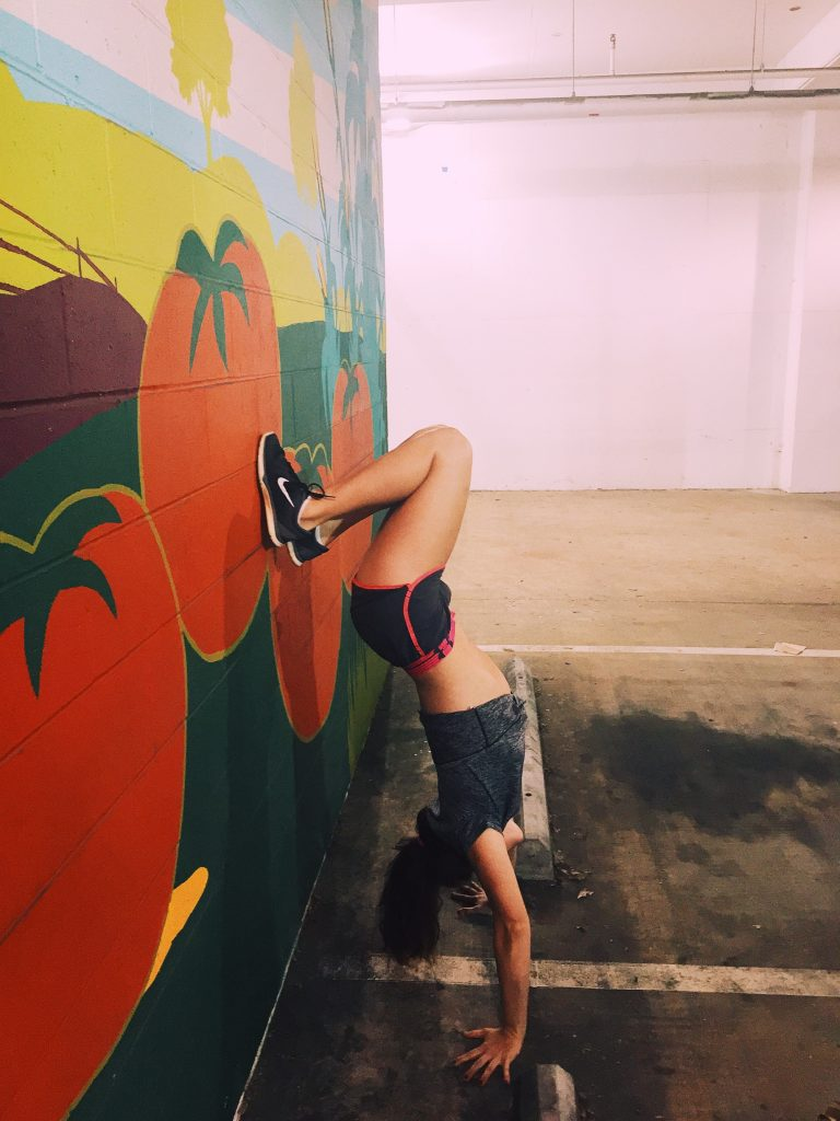 HANDSTAND SIMPLY TARALYNN JULY FITNESS CHALLENGE