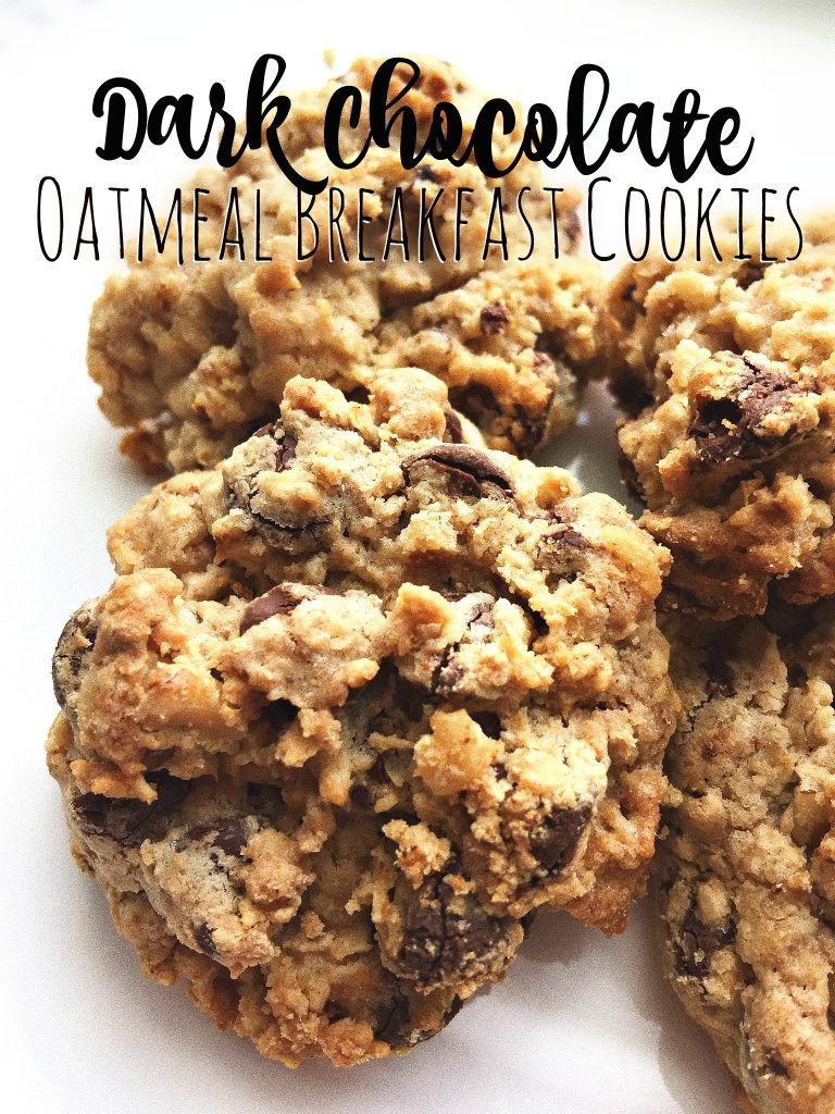 Dark Chocolate Oatmeal Breakfast Cookies