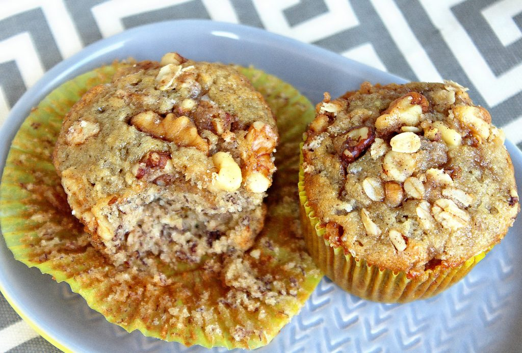 Candied Walnut Banana Muffins ?
