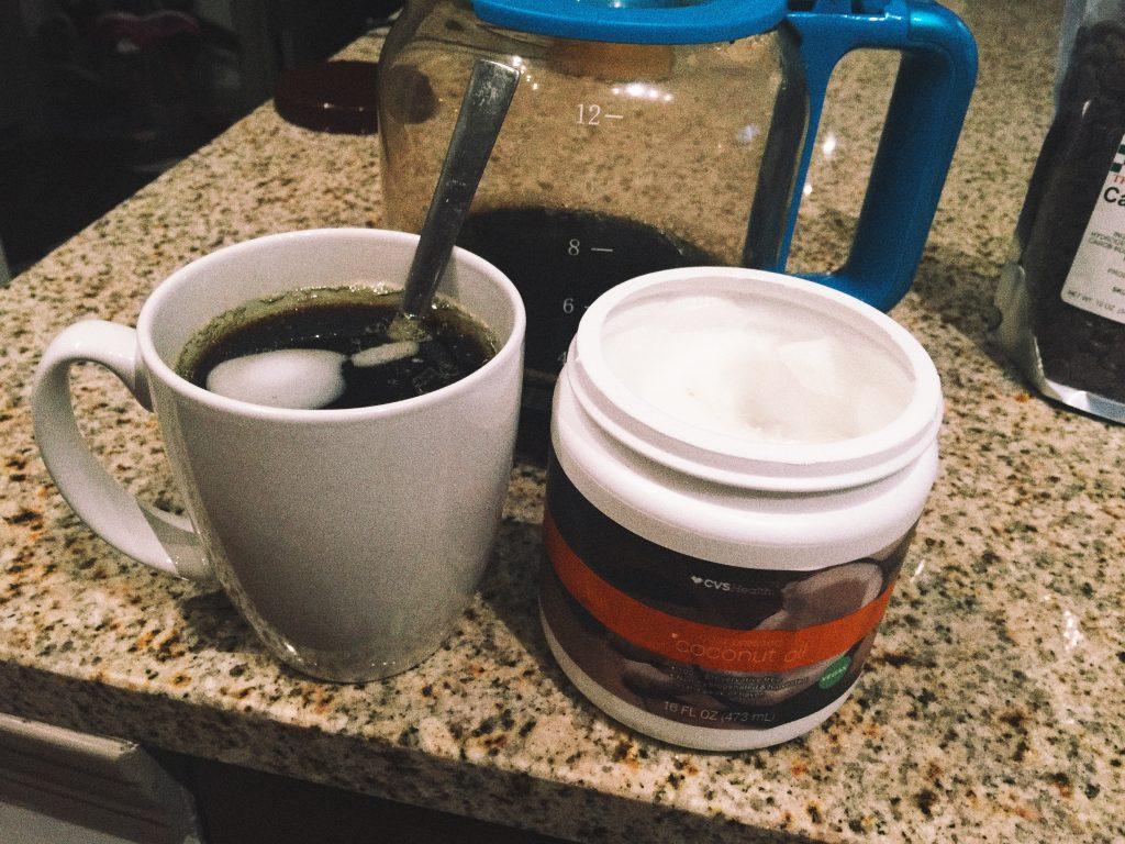 coconut oil & coffee