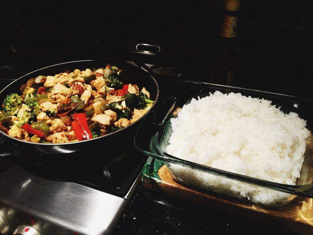 Sunday night stir fry dinner