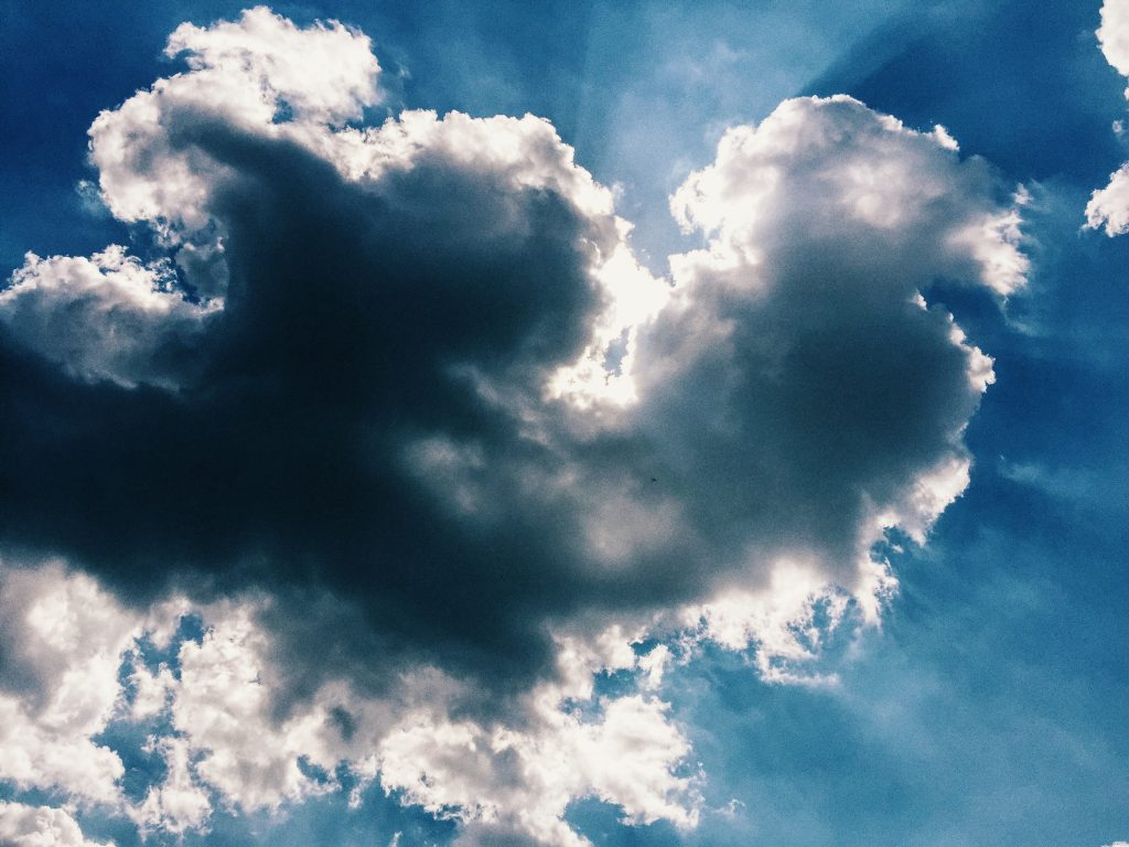 hearts in the clouds