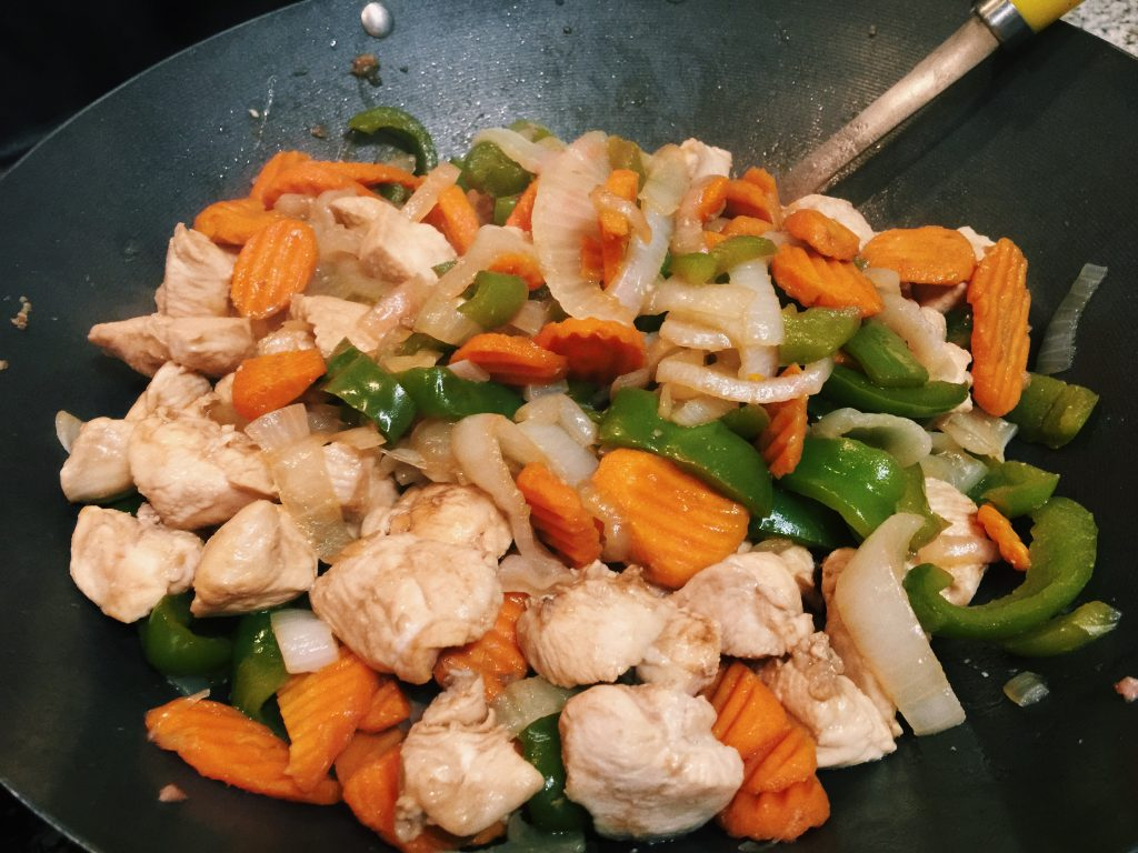 food prep stir fry