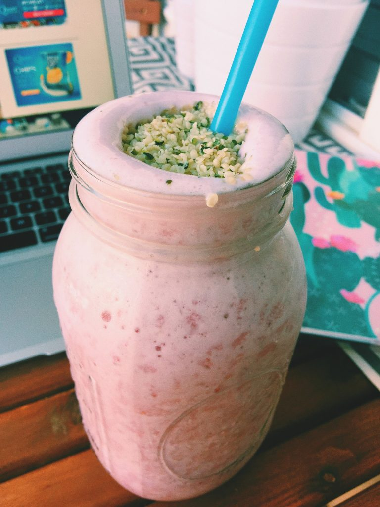 tropical berry protein shake