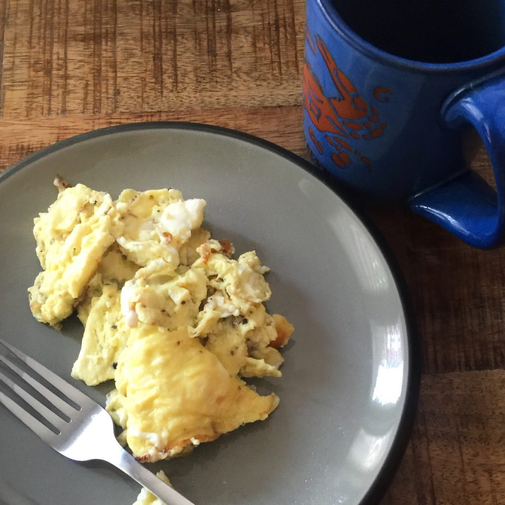 post walk eggs! & coffee