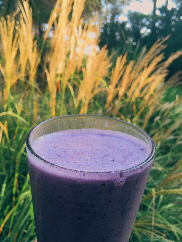 banana blueberry protein smoothie