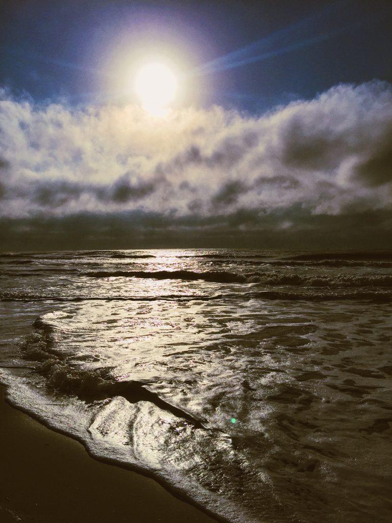early morning on folly beach