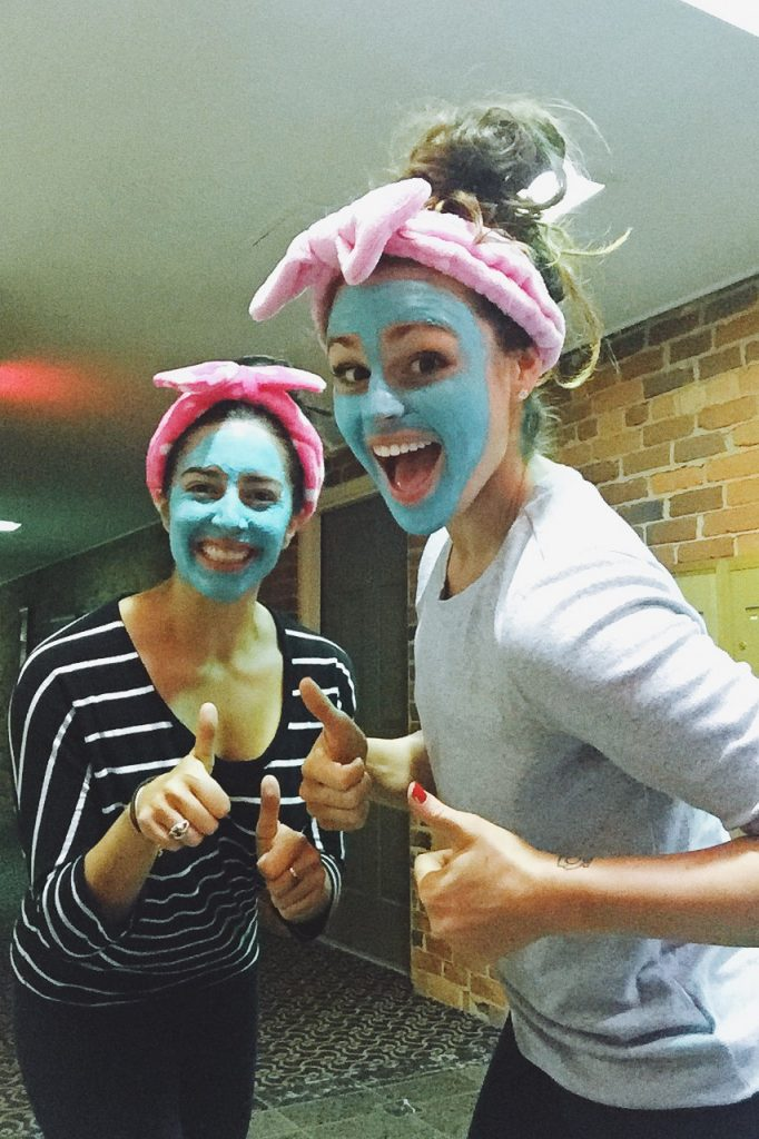 girls night facials