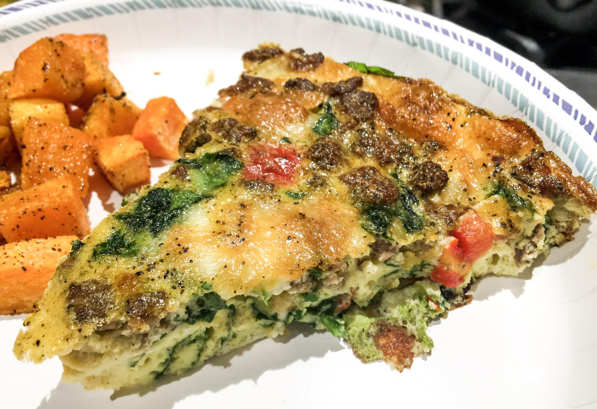 Blue apron quiche artichoke - Thirty Minute Turkey Sausage Havarti Veggie Frittata Simply Taralynn