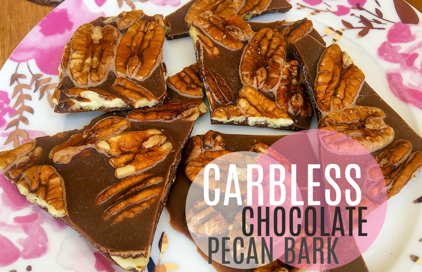 Carbless Chocolate Peanut Butter Pecan Bark Simply