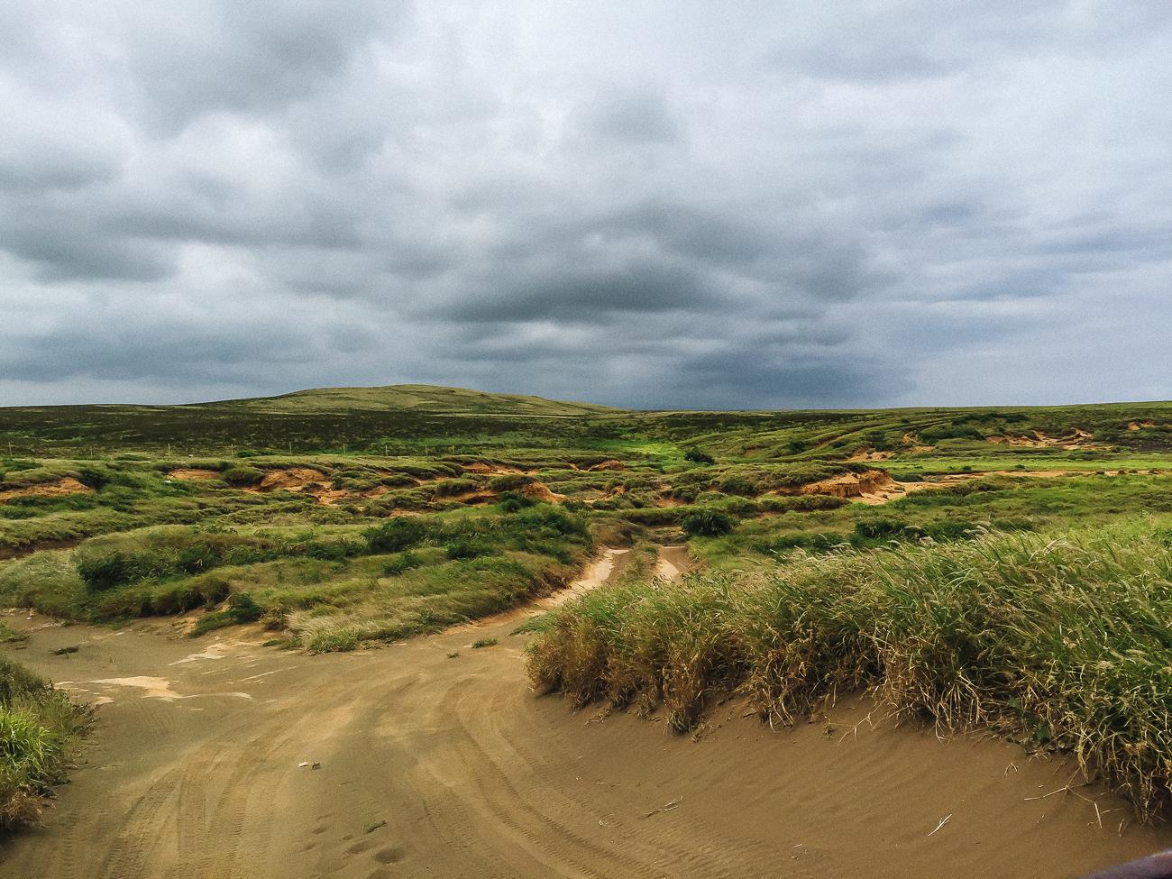 vGreen Sand Beach Big Island Hawaii