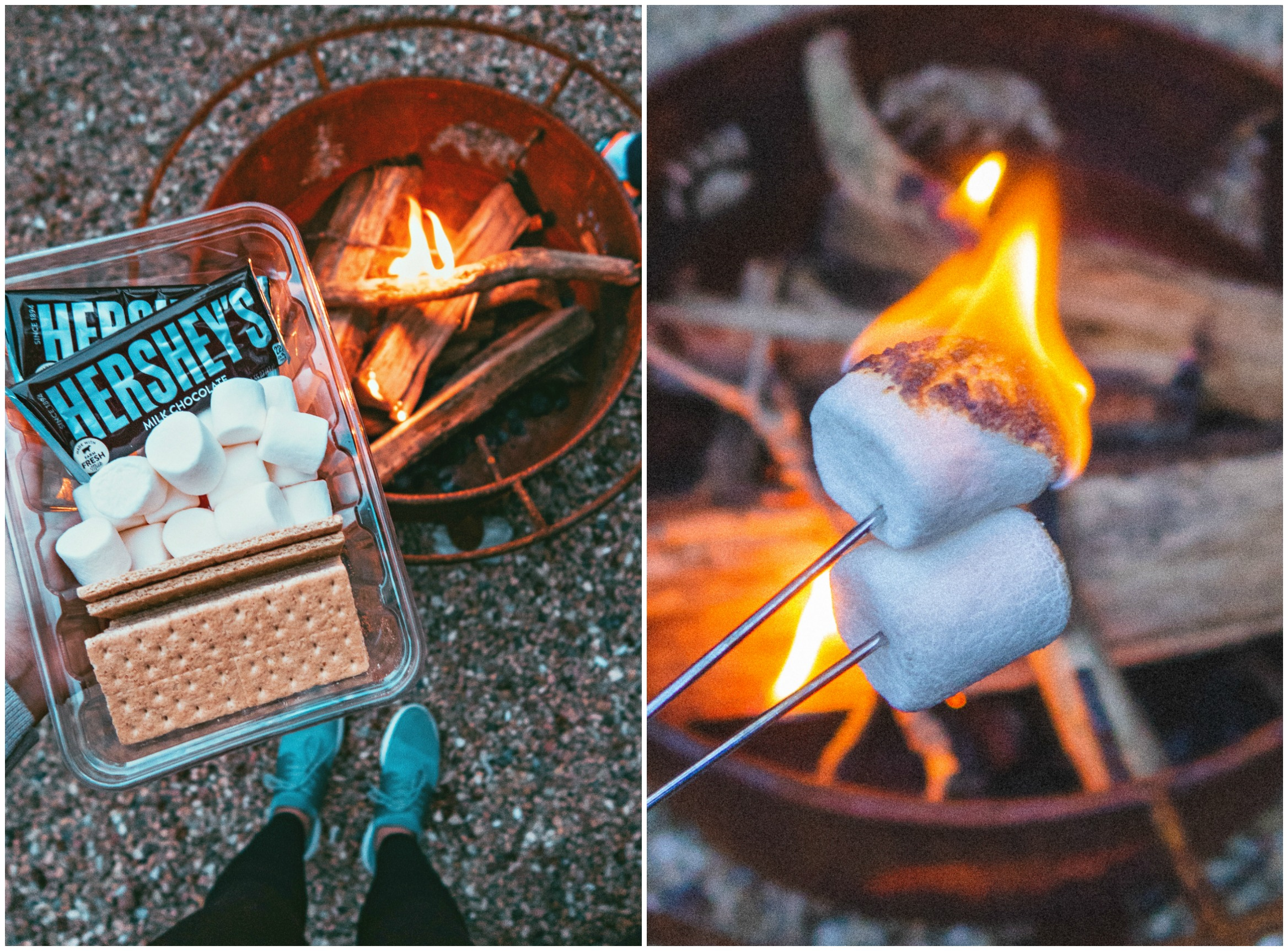 couples hiking, dogs, ruffwear, lake, mountain trip, hike, camp, fishing, Patagonia, back country, hiking boots, roasting marshmallows, s'mores, bon fire
