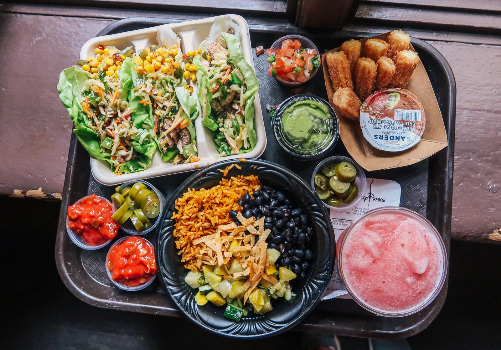 Tall Tale Inn And Cafe Pecos Bill Disney Magic Kingdom Food vegan, gluten free, dairy free,