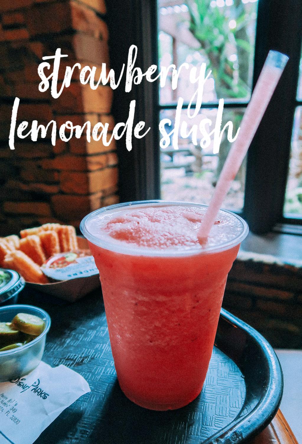 Tall Tale Inn And Cafe Pecos Bill Disney Magic Kingdom Food Strawberry Lemonade Slush