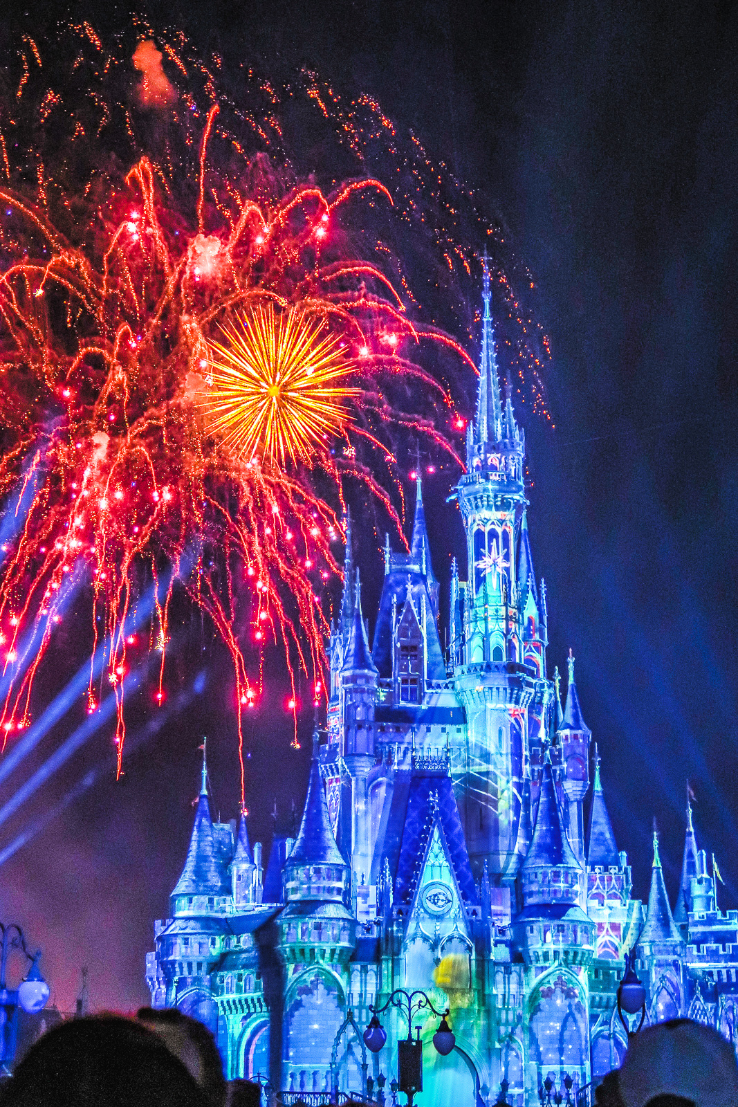 Magic Kingdom Disney World At Night Fireworks Show