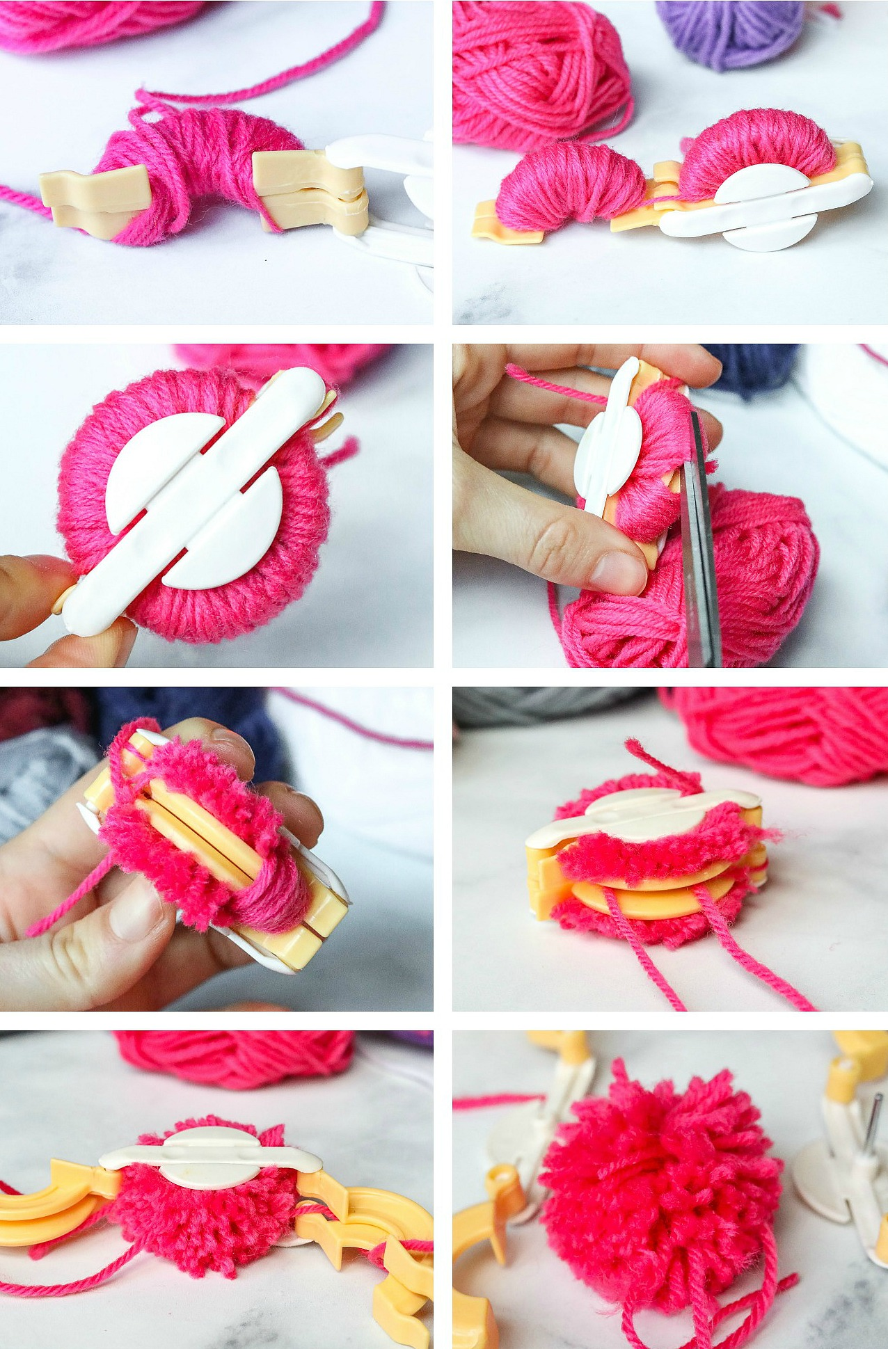 Colorful Diy Pom Pom Wreath To Brighten Up Your Door