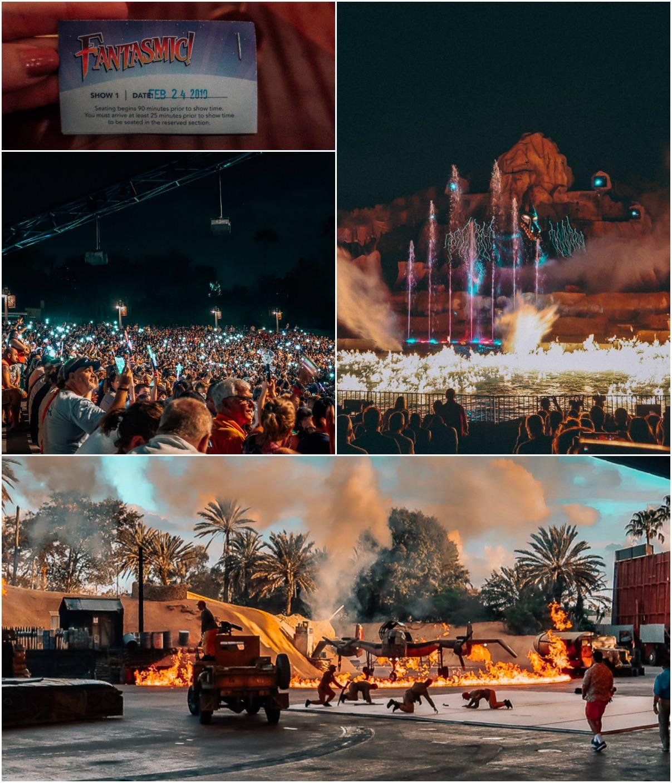 Hollywood studios fantasmic firework show walt disney world Indiana jones