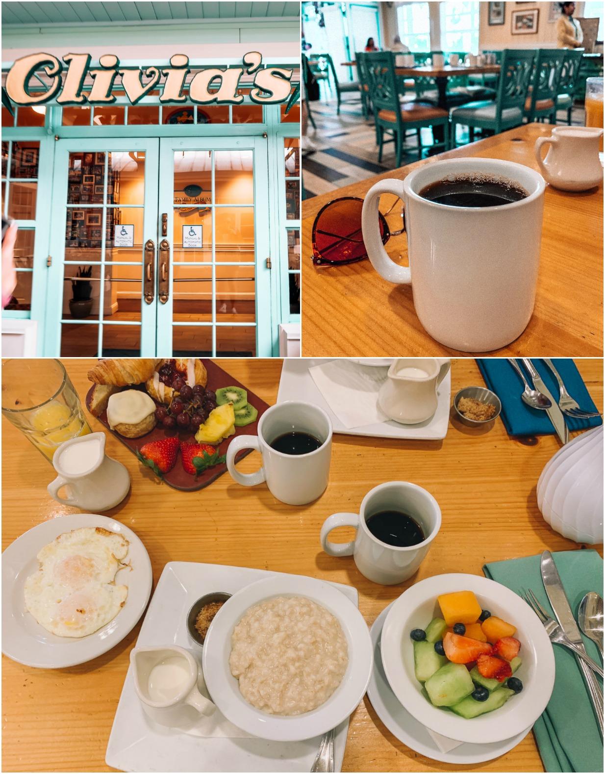 Itinerary Walt Disney World Olivias Breakfast Spot