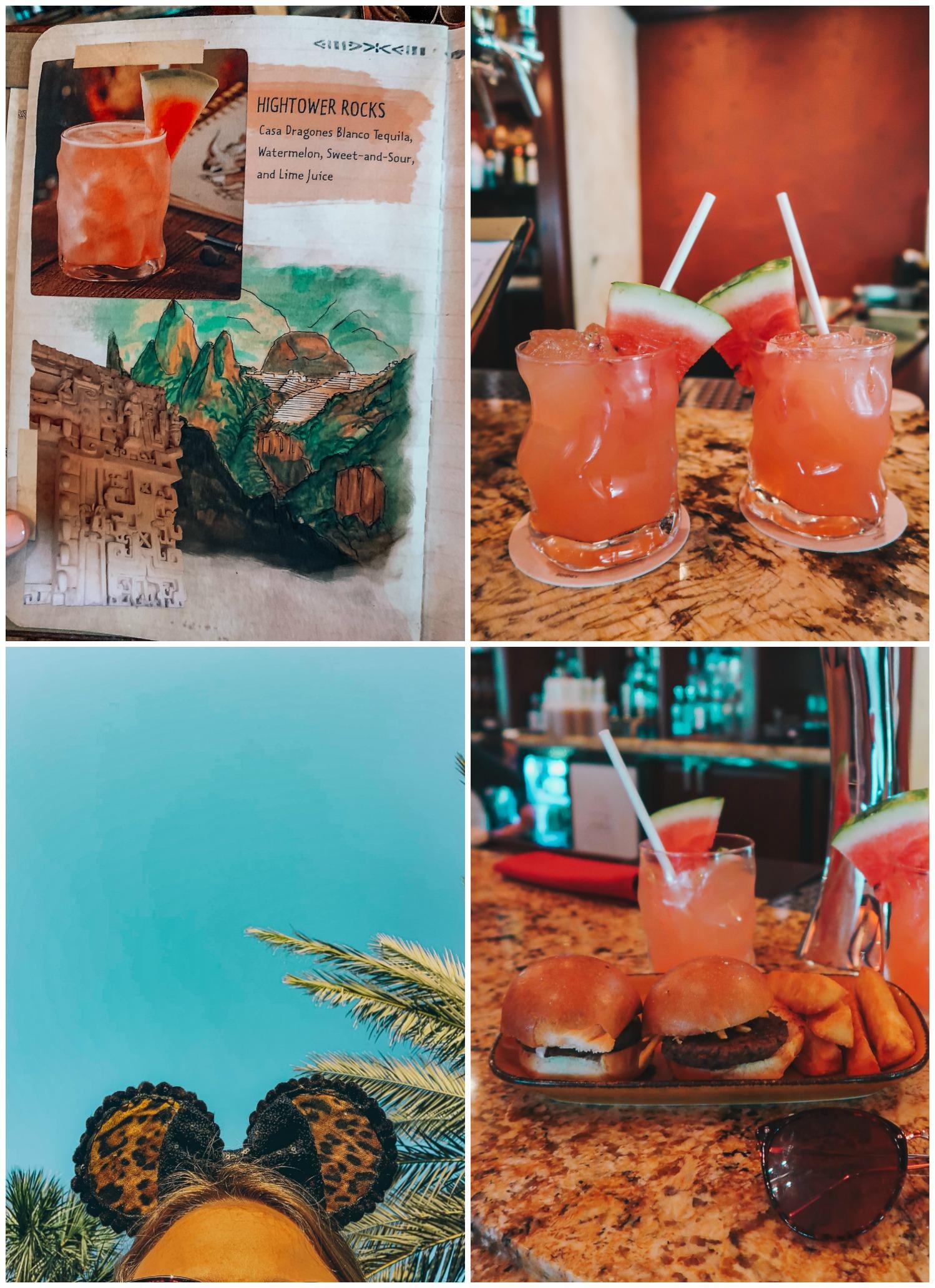 Itinerary Walt Disney World Animal Kingdom Nomad Lounge Vegan food cocktails yucca fries