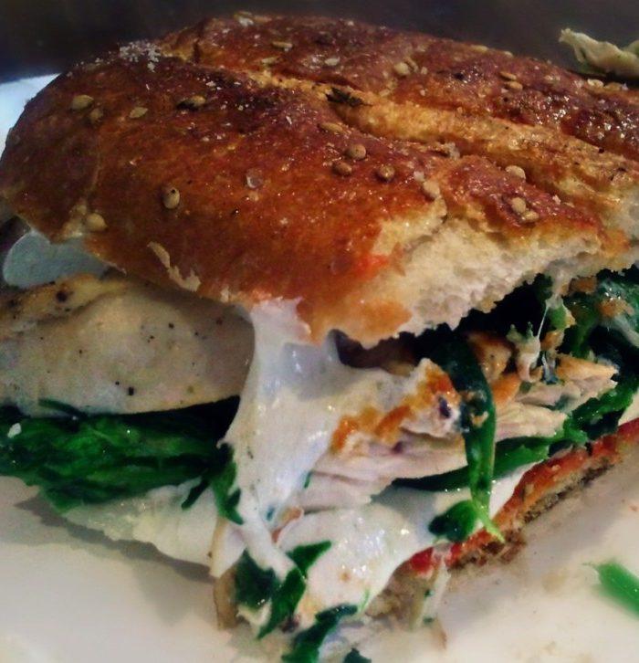 Pepper Jack Cheese Cod Sandwich on Whole Grain Bread