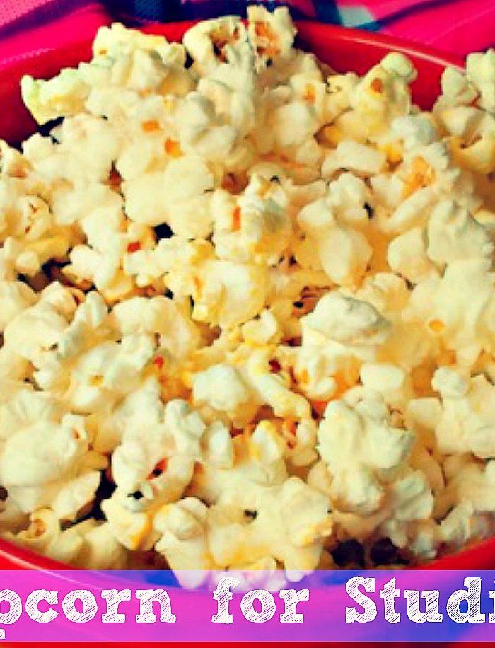 Mindless Study Snacking: Popcorn!