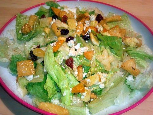 Feta Rice Cracker Salad With Balsamic Dressing