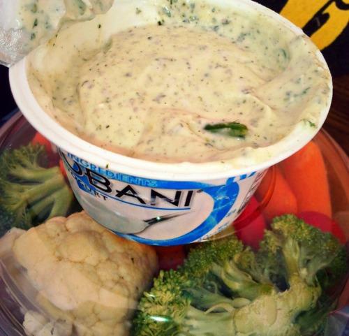 Guilt Free 2 Ingredient Dip: Ranch Seasoning & Greek Yogurt